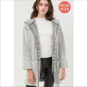 1 LEFT‼️PRICE WAS 70$🆕Plus Size  Jacket w/Hoodie